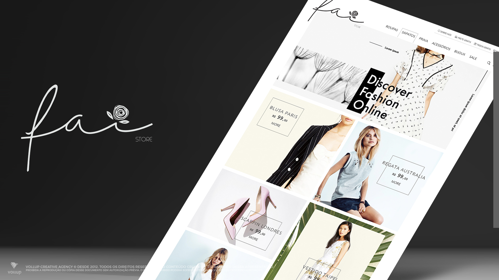 Fai Store e-commerce layout