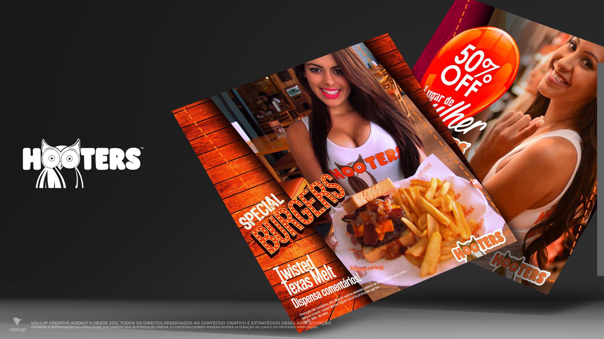 Posts promocionais Hooters Brasil