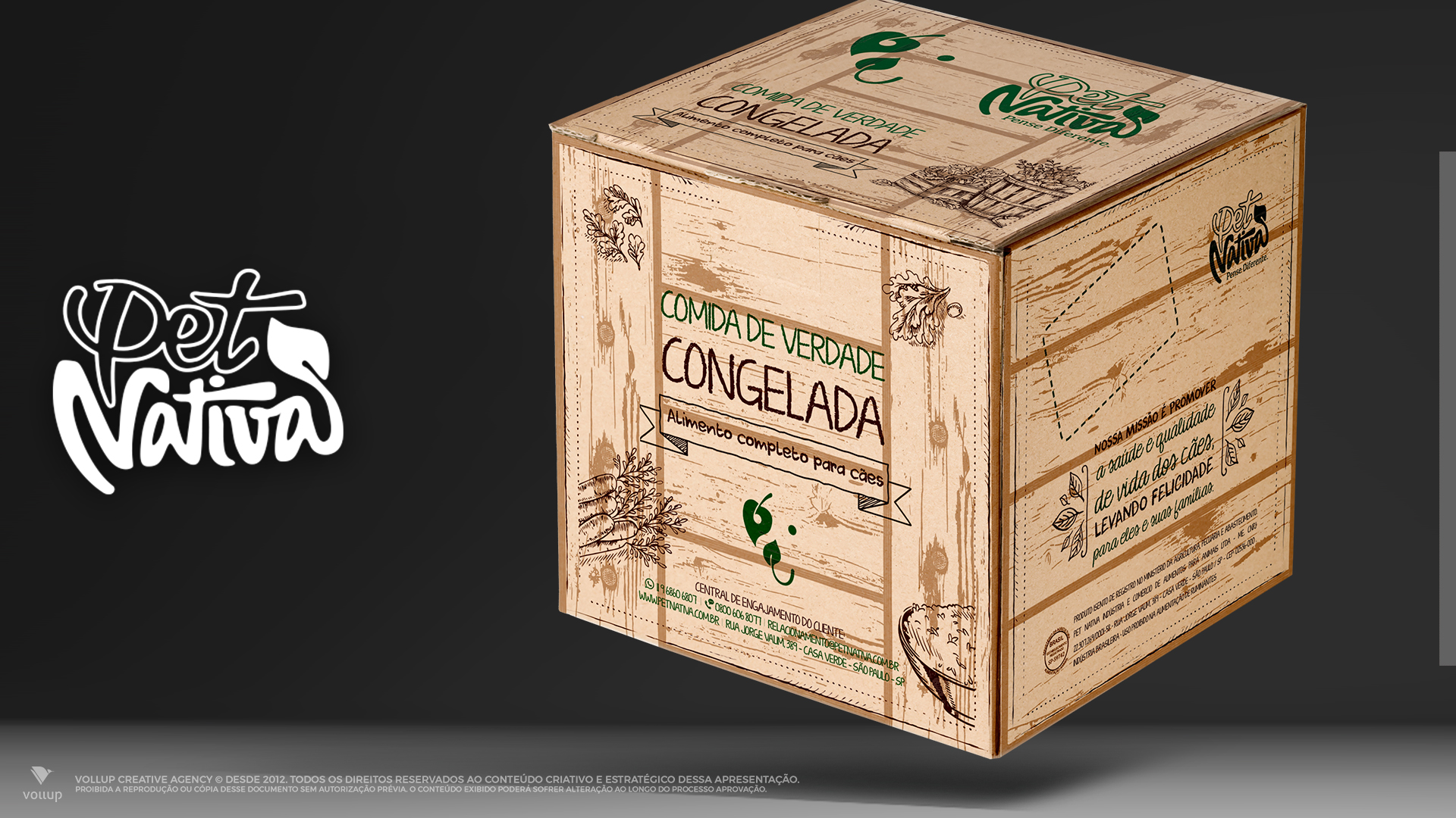 Embalagens para comida congelada Pet Nativa
