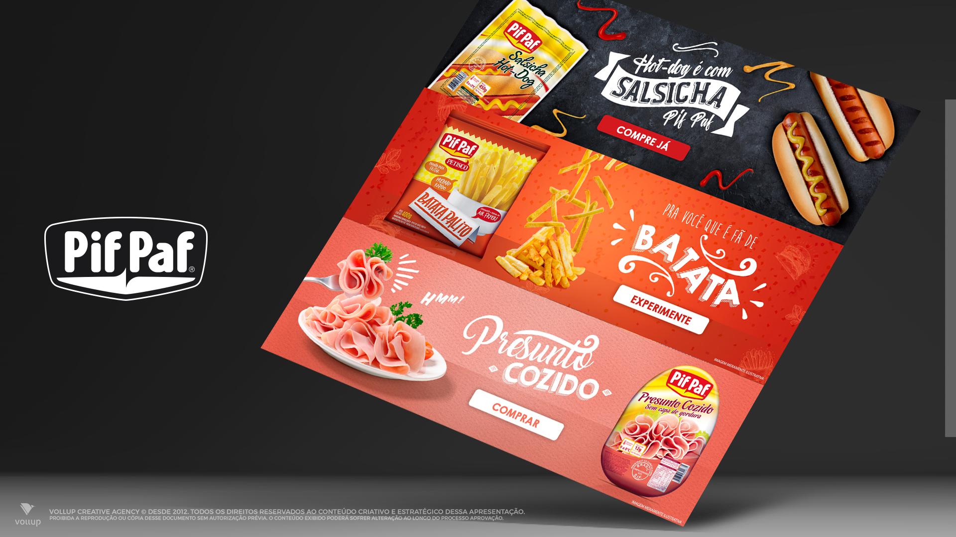 Banners promocionais Pif Paf
