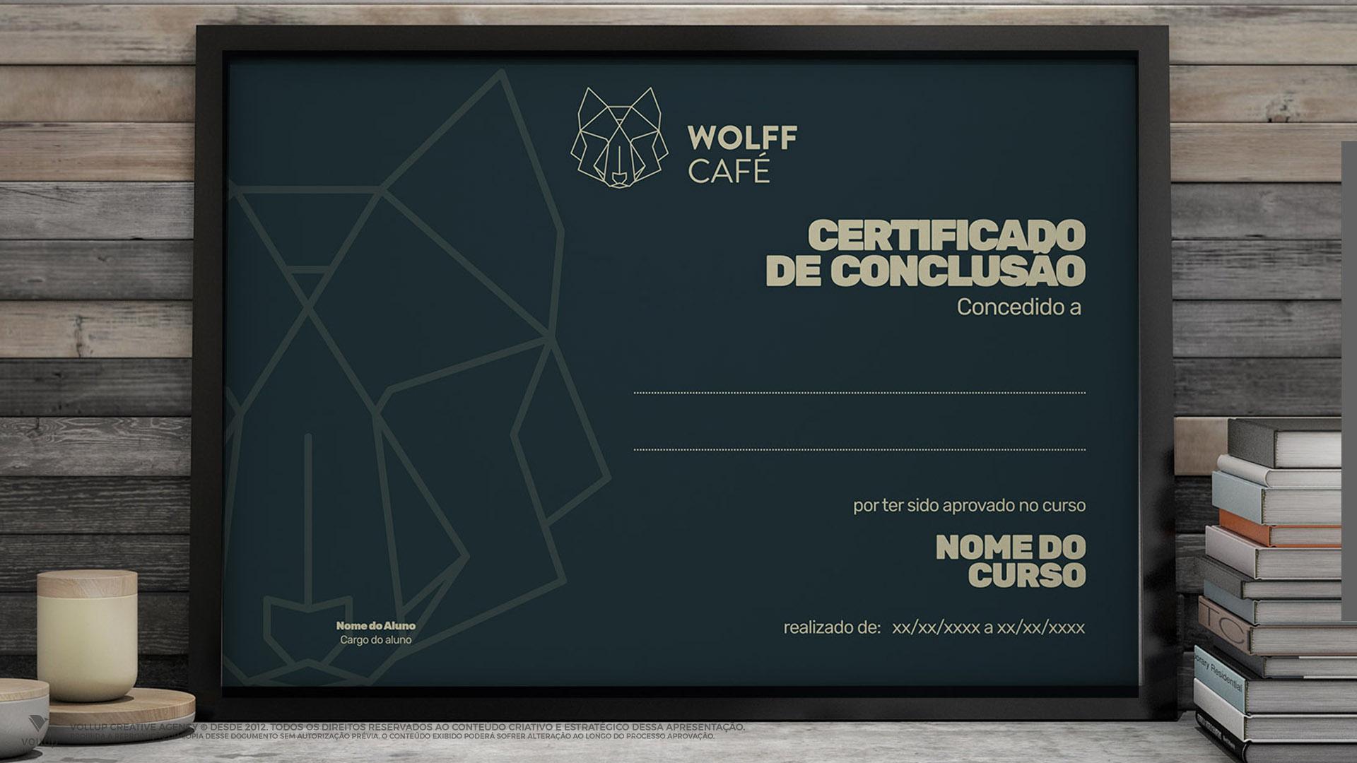 Certificado Wolff Café
